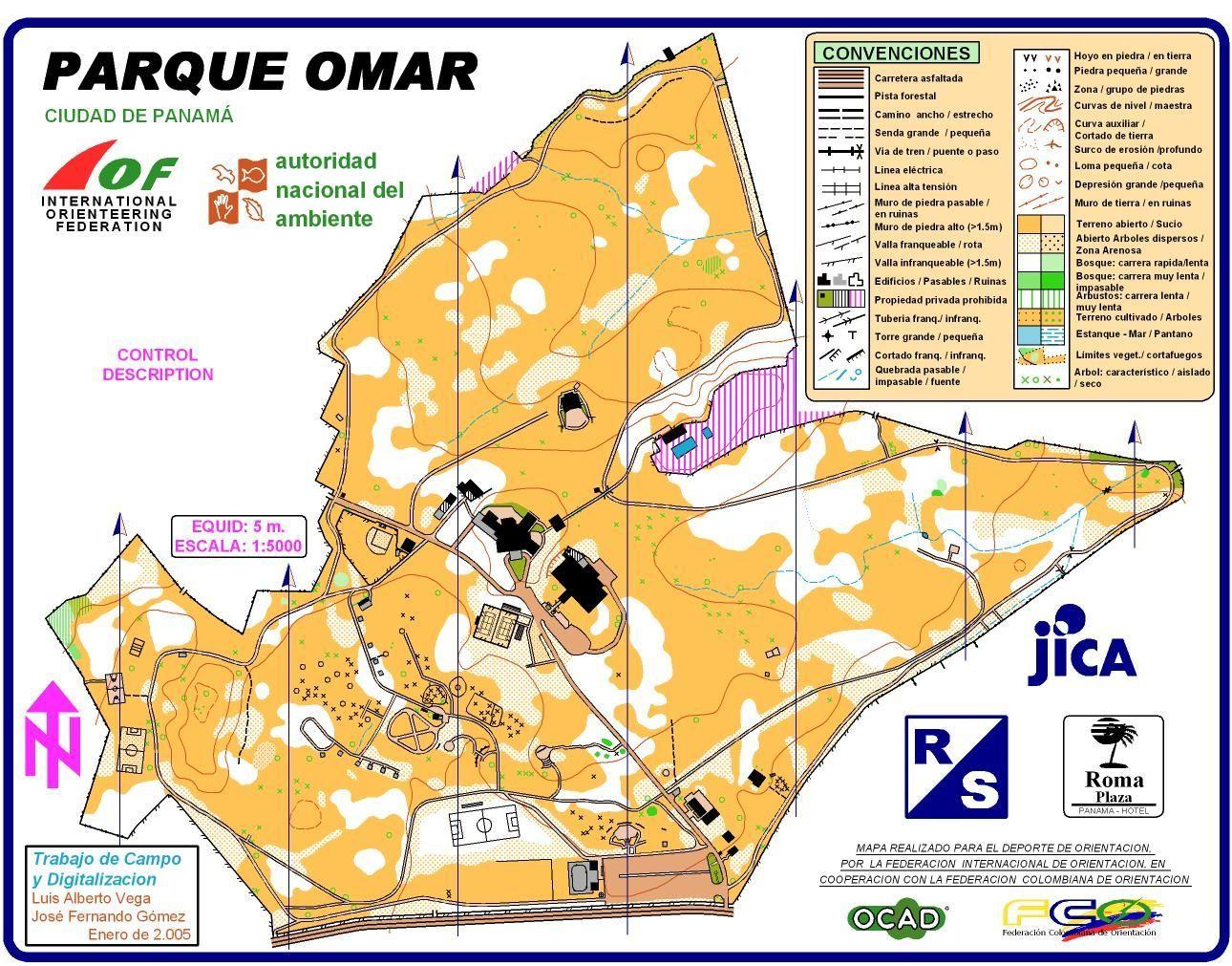 Orienteering map: Parque Omar - Panama